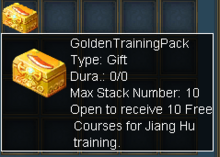 Golden training pack