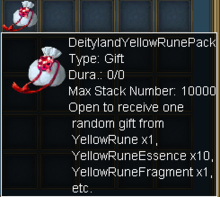 Deityland Yellow Rune Pack