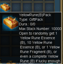Yellow Rune B Pack
