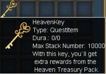 Heaven Treasury Key