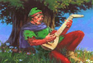 Alan-a-dale-under-tree