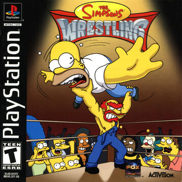 The Simpsons Wrestling Caratula