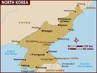Map of north-korea
