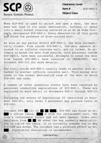 Documents   SCP - Containment Breach Wiki   Fandom