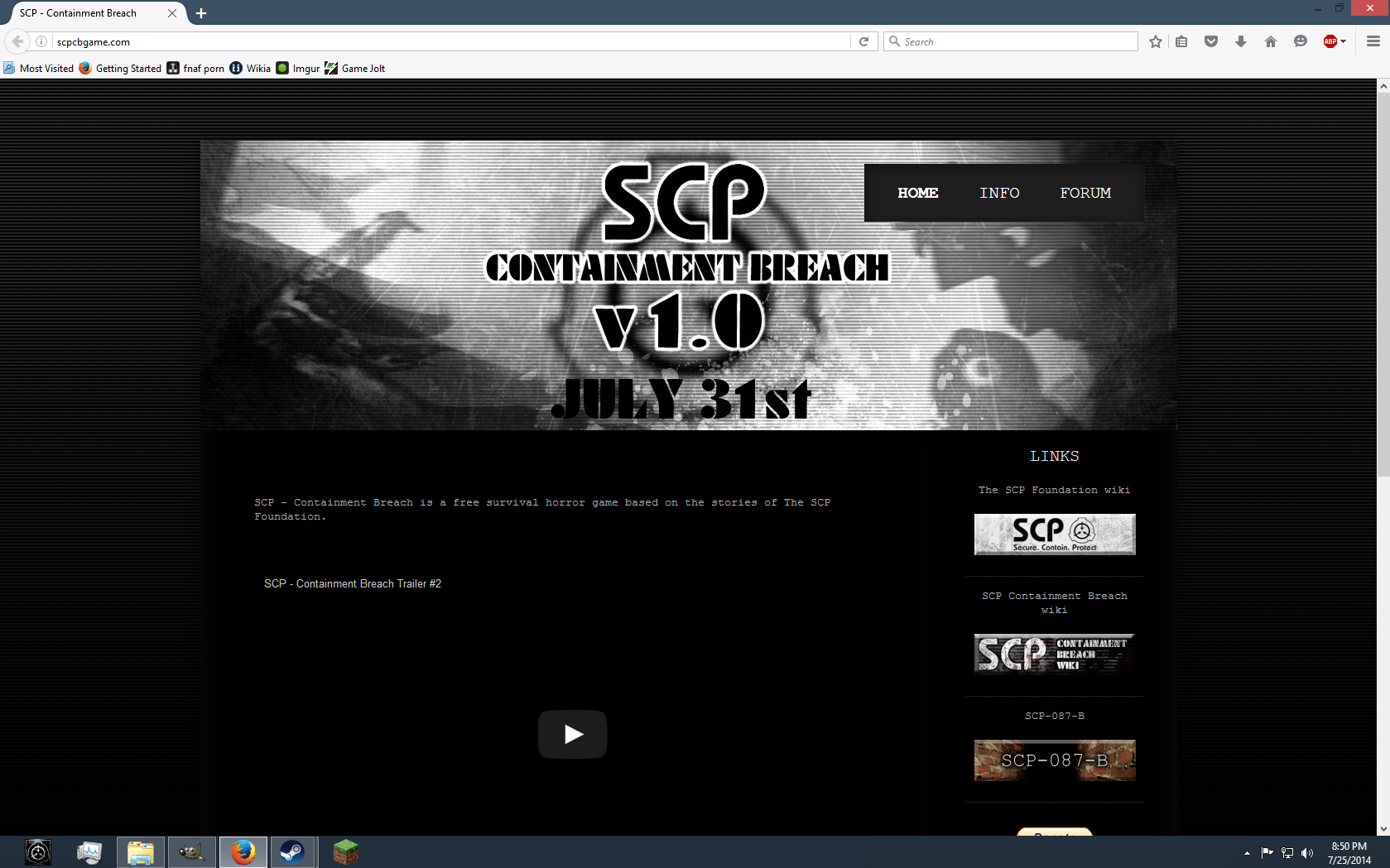 Versions | SCP - Containment Breach Wiki | FANDOM powered by