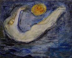 Le rêveur et de la lune.