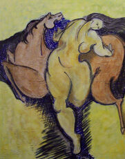 Nude and horse