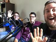 Dom, Paul and Nick recording ContinueQuest