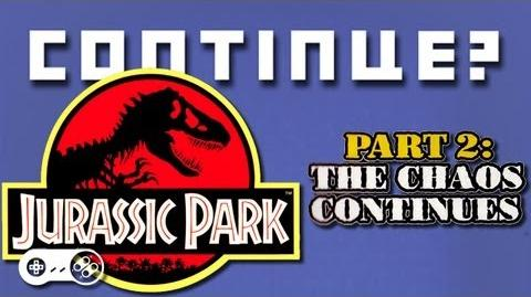 Jurassic Park 2- The Chaos Continues (SNES) - Continue?