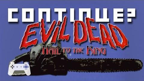 Evil Dead Hail to the King (PS1) - Continue?