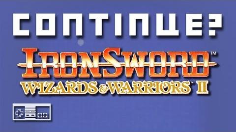 Ironsword- Wizards & Warriors 2 (Nintendo NES) - Continue?