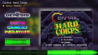 Simon 1994RD Contra Hard Corps Genesis Soundtrack