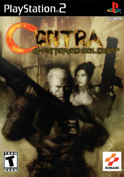 Contra shattered soldier USA boxart