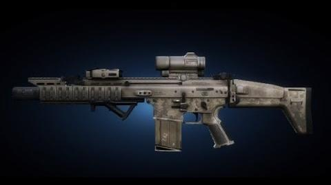 Contract Wars SCAR-H Shooting Test
