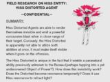 Research & Records: Hiss Distorted