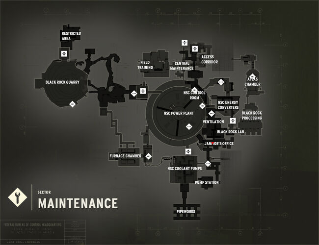 Maintenance Sector Map