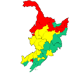 Manchurian election map 2013