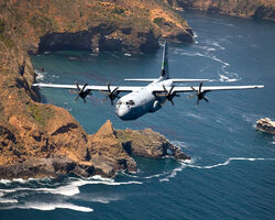 C-130 Hercules over Santa Cruz Island