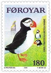 Faroe stamp 031 puffin