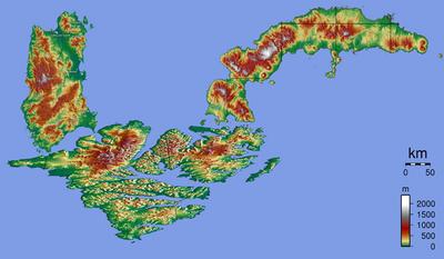 Kruz Islands Relief Map