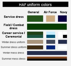 HAF Uniform Colors