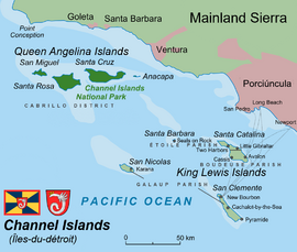Map of the Channel Islands