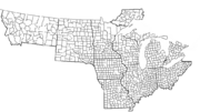 WABASH MAP COUNTIES