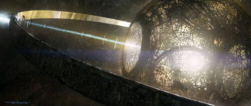Dysonsphere-Yamato space