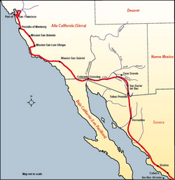 Route of De Anza