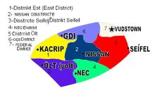 Districts map of madtadavistan