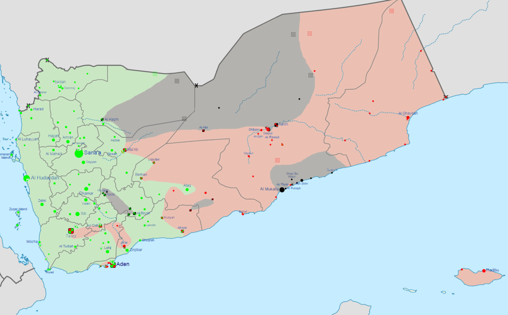 Image Yemen War Detailed Mappng Constructed Worlds Wiki - Yemen map png