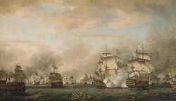 The battle of the Saints 12 avril 1782