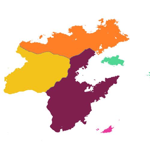 Cantonal map of Lana