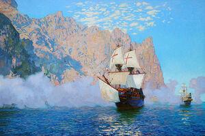 Francis Drake's galleons
