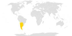 Location of Kingdom of La Plata
