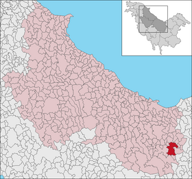 Comuna Sfarsoara in Polania map.png