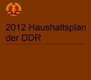 Haushaltsplan der DDR