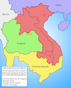 Map of Indochinese DR