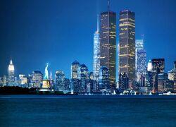New World Trade Center night sky