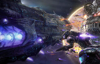 Interplanetary War by Killian Marchand