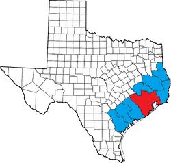Location of Houstonian Empire