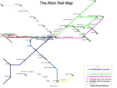 Alton Rail Map