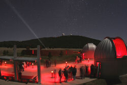 Duenes Space Center at night