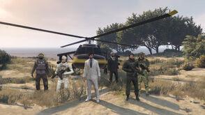 Leaders at the Zancudo Bunker