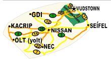 Road map of madtadavistan