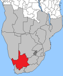 Locator Map of the Afrikaner Volkstaat