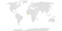 Location of Cote d'Ivoire