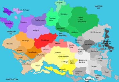 Republic of Ponant - Administrative Subdivisions