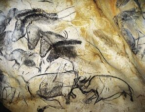 Cave Drawing of Horses found near Coudellier, Rhythe, Helvore