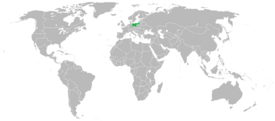 Location of Prussia (world map)